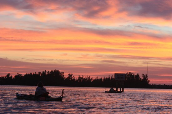 Motorized Kayak Adventures: sunset