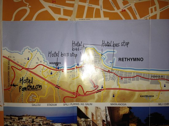 Pantheon Hotel: minibus route