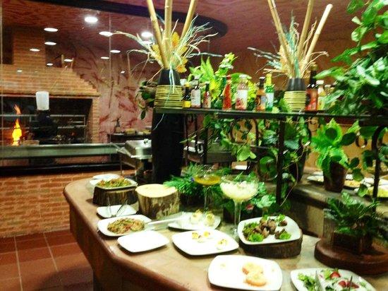 Fogo do Brasil: salad bar & charcoal oven