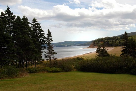 The Markland Coastal Beach Cottages: View of Beach from Grounds