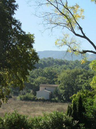 Mas de l'Amarine: The blissful view from our room, looking south towards les Alpilles