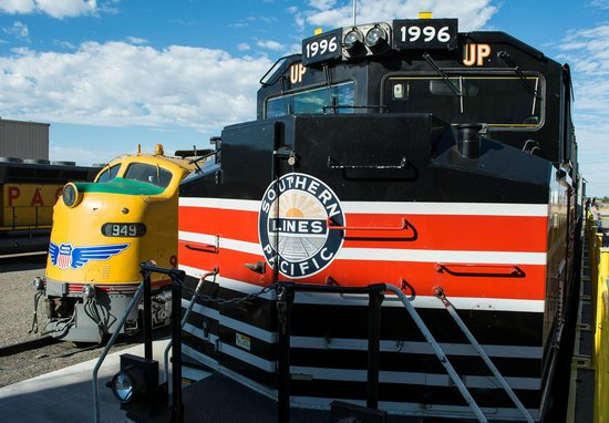 Union Pacific Railroad Bailey Yard: Restored engines on display