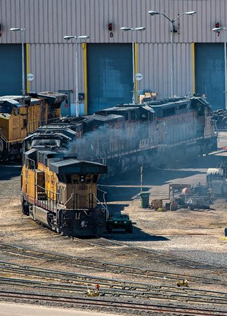 Union Pacific Railroad Bailey Yard: Outside the repair barn