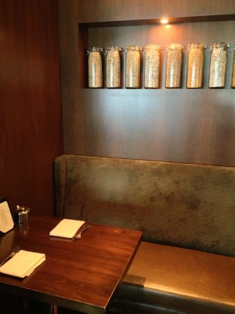 Glen Prairie: One of the booths lining the walls of the restaurant