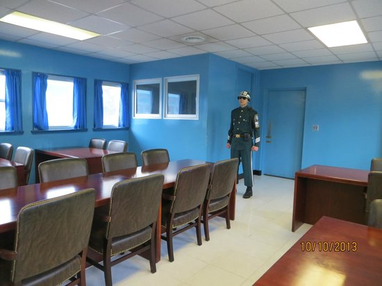 Conference Table Inside Un Building Picture Of Panmunjom Paju Tripadvisor