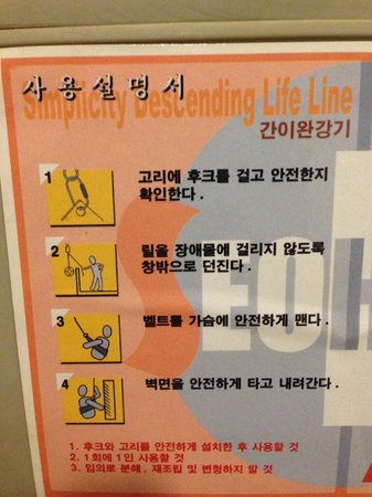 LEX Tourist Hotel: Abseil equipment guide