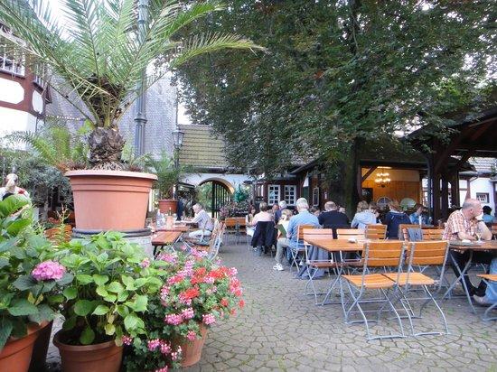Weindorf Koblenz: Jardim interno