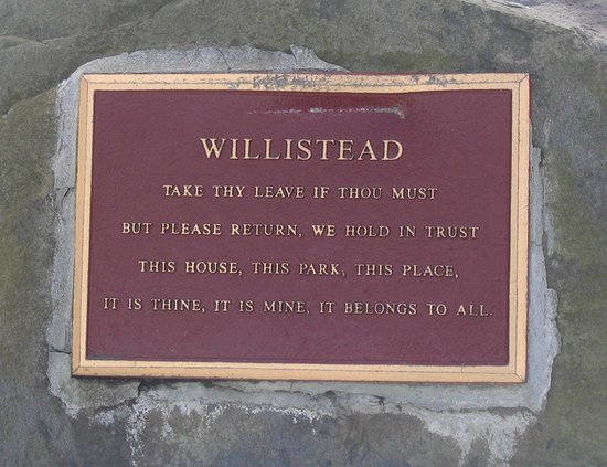 Willistead Manor: a plaque they have