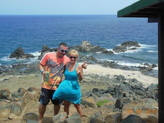 Madi Magical Tours: Joe & Rose with Natural Pool below