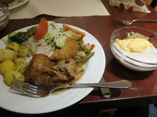 Leonardo Hotel Freital: レオナルド ホテル ドレスデン フライタール  ・・・夕食はボイリュームたっぷり