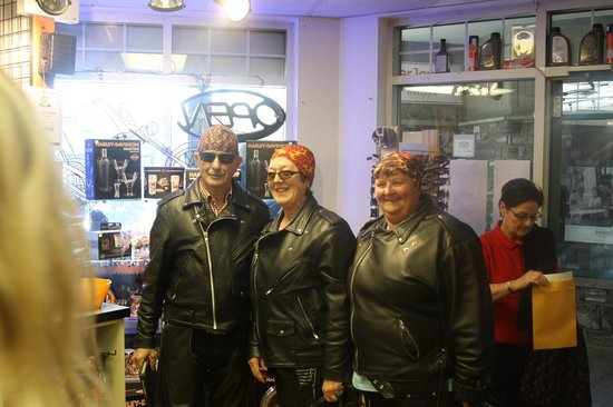 Jasper Motorcycle Tours Day Tours: In the Shop getting dressed