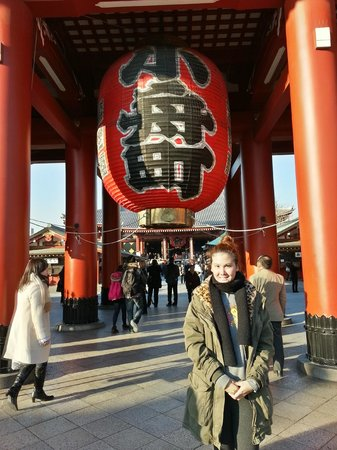 Super Hotel Asakusa: At Azakusa temple