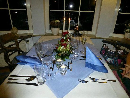 Hotel Friesengeist: gedeckter Tisch