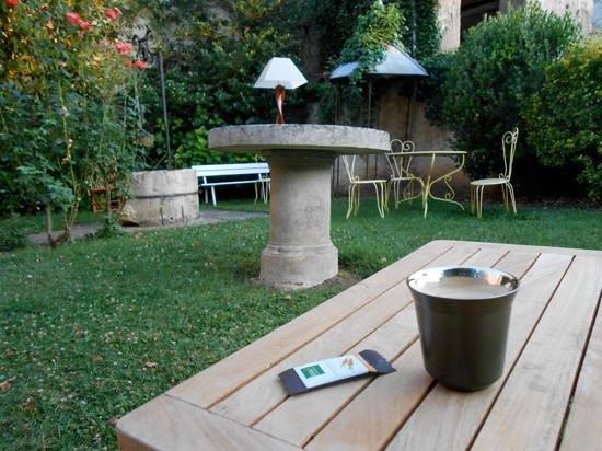 Hotel des Cymaises : jardin de l'hôtel