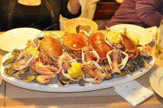 Somme, France: Plateau fruits de mer