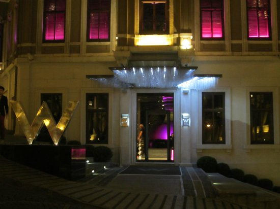 W Istanbul: hotel front
