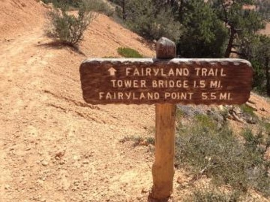 Sunrise Point: Fairyland trail naar Tower Bridge