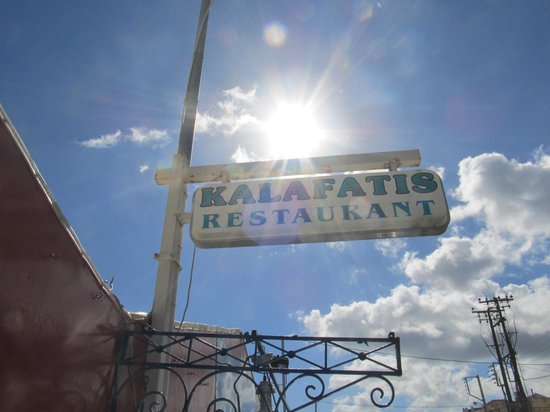 Kalafatis: The sign from street side