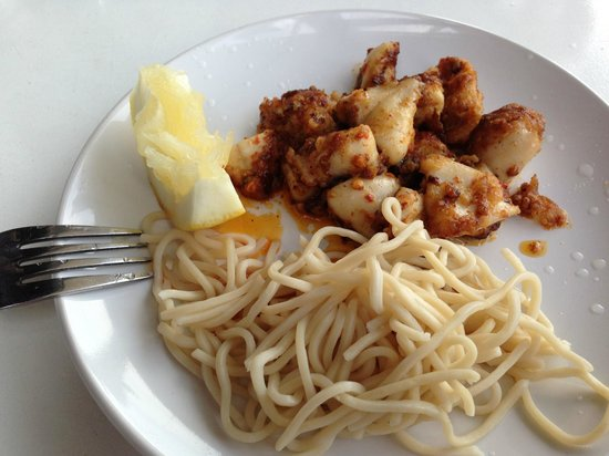 Mo Noodles: Seared calamari starter