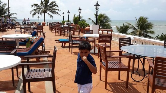 Mount Lavinia Beach: the hotel terrace pool restaurant ...overlooking the colombo skyline