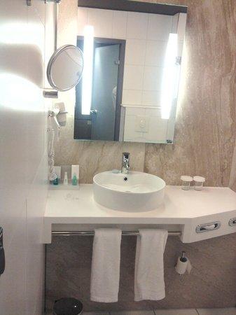 Apollo Hotel Amsterdam: Salle de bain - assez classique