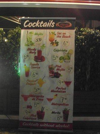 Tapas Locas : Cocktail list