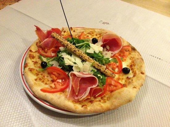 La Prego Restaurant Et Epicerie Italienne : pizza sicilienne