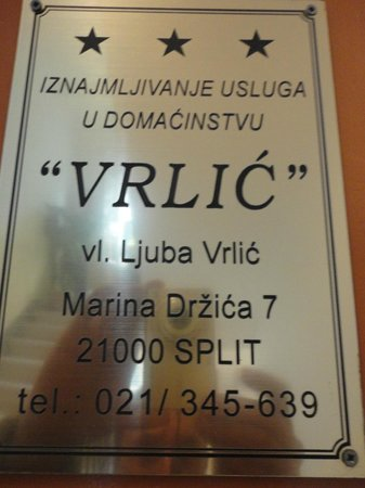 Guesthouse Vrlic: Vrlic Directions