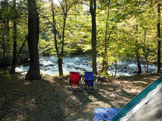 Greenbrier Campground: Perfect view