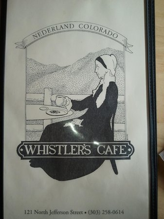 Whistler's Cafe: The Menu