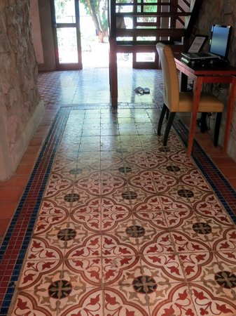 Sala Prabang: beautiful heritage mozaic flooring