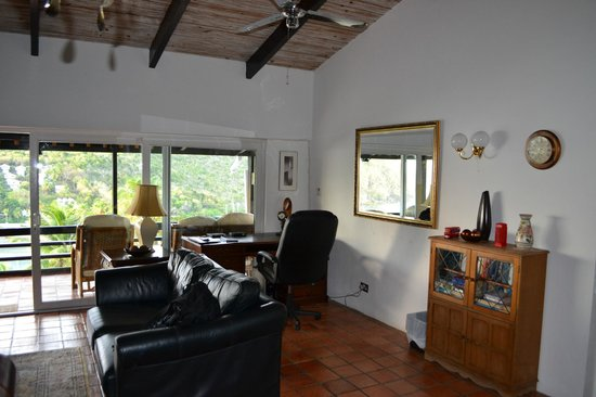 Marigot Palms Luxury Caribbean Guesthouse and Apartments: Living room
