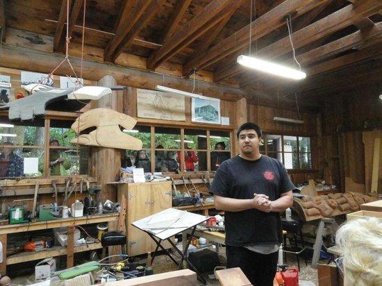 Saxman Native Village: Totem Carving education