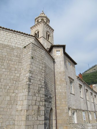 Dominican Monastery: Side of the complex with bell tower above