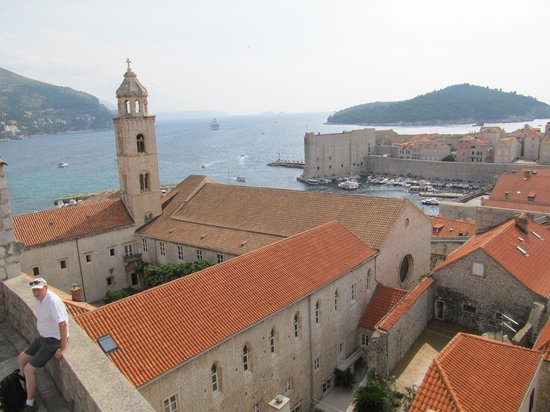 Dominican Monastery: Aerial view of the complex from the walls