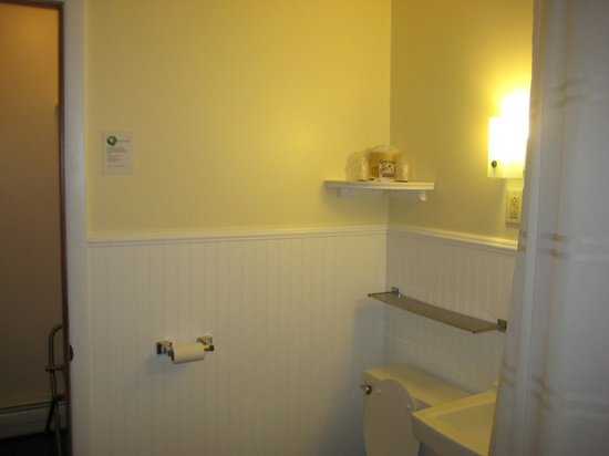 Colonial Motel: Extremely clean (and Huge) bathroom