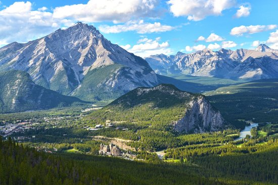 Buffaloberry Bed and Breakfast: View from the top of the Banff Gondola