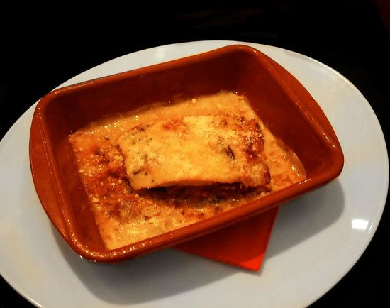 La Tratto Sitges: Lasagna de soja texturizada