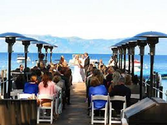 West Shore Cafe and Inn: Pier Ceremony