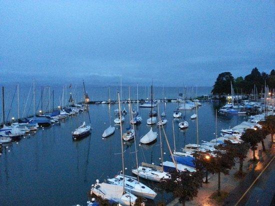 Romantik Hotel Mont-Blanc Au Lac : Early morning balcony view