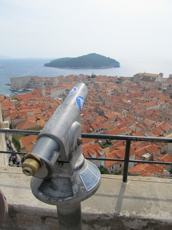 Minceta Fortress: View across Dubrovnik Old Town
