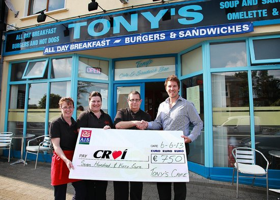 Tony's Grill Diner: we sold a cd for croi raised €750