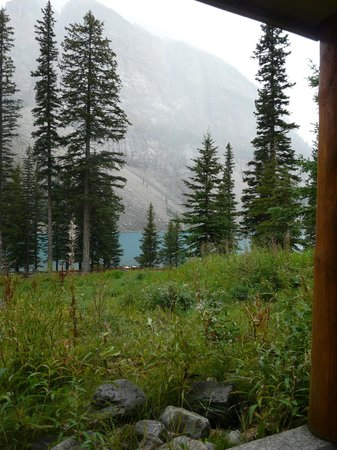 Moraine Lake Lodge: View from ground floor room
