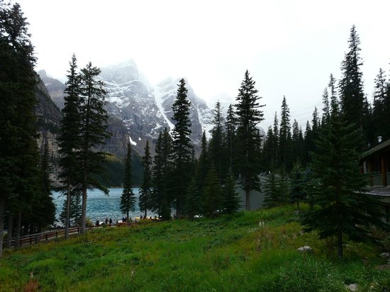 Moraine Lake Lodge: View from Main Building 1st floor room