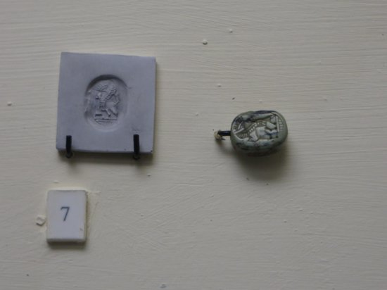 Gordion: a very small 2,700 year old stamp and its fine detail.
