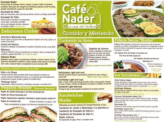 """Hotel & Suites Nader: Menú """"Roomservice"""" Comidas y Cenas"""