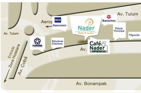 Hotel & Suites Nader: La mejor ubicación, a la entrada de la zona hotelera en el corazon de Cancun Centro