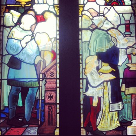 Ettington Park Hotel: Stained glass detail
