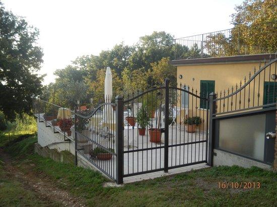 Saturnia Residence : Zona terrazzo comune