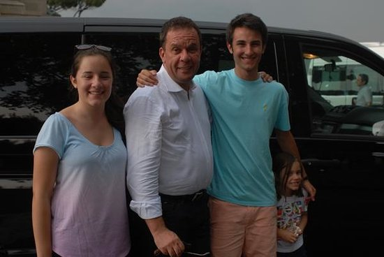 Shore Excursions in Italy : Our three kids with Luka in Rome
